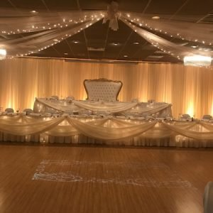 Bridal table ballroom