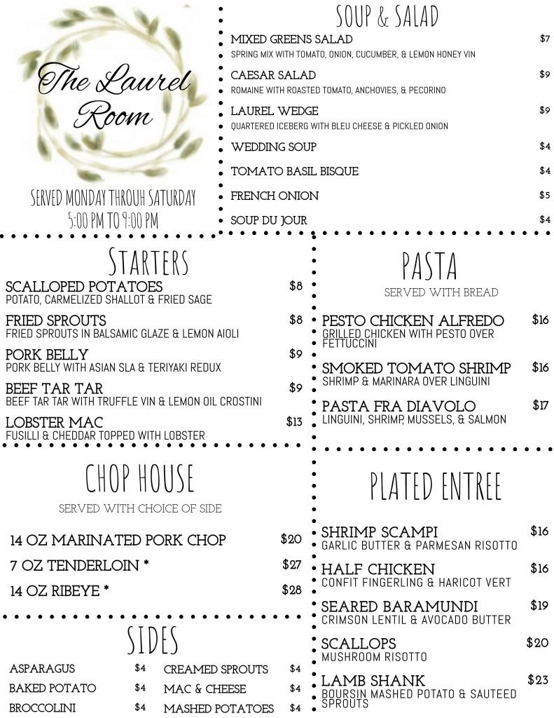 Laurel Menu